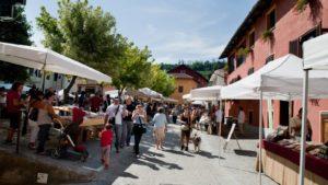 Piemonte stadje markt