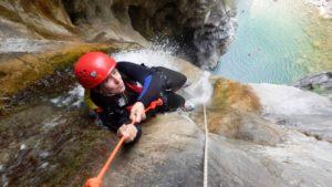 Canyoning abseiling familiereis canyoning Dolomieten