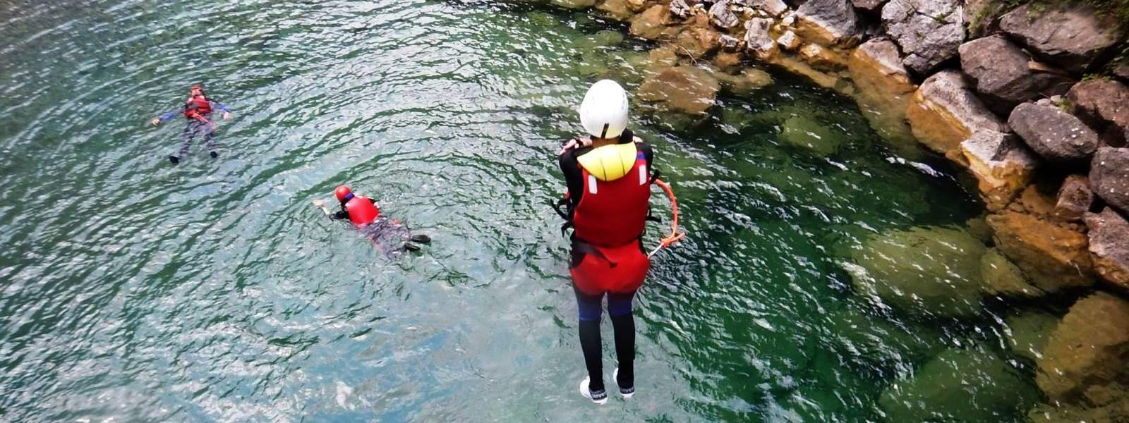 canyoning Dolomieten met kinderen