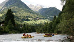 Dolomieten Rafting zuid Tirol