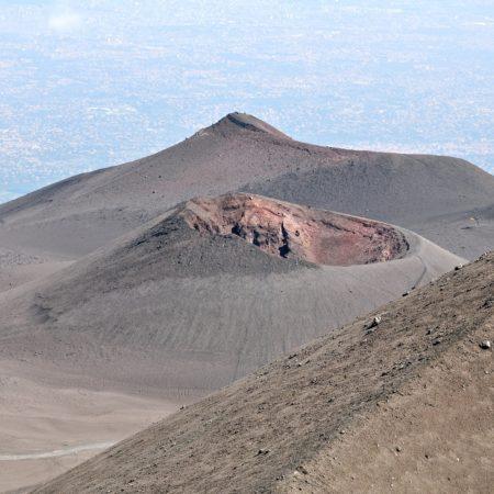 maanlandschap Etna uitzicht krater