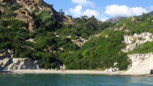 Sardinie kust bij Bosa