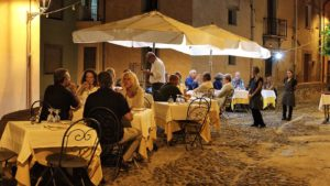 restaurant Bosa buiten terras