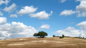 Sicilie landschap wolken