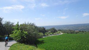Fietsreis zuid-oost Sicilie landschap