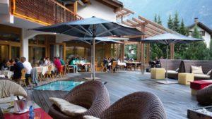 Terras luxe Hotel in zuid-tirol