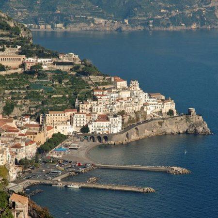 Uitzicht op Amalfi