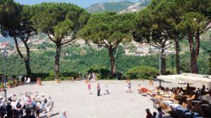 Plein in Ravello - La piazza