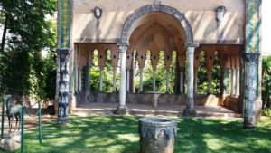 de tuinen van Villa Cimbrone in Ravello