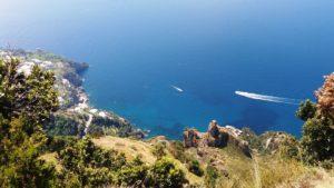 uitzicht kust Sentiero degli Dei