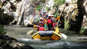 Happy Rafting rivier_Lao