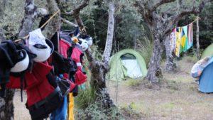 Tent & kamp tijdens rafting