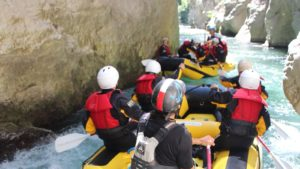Rafting familiereis door de kloof
